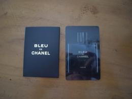Carte Chanel Bleu A/patch Et Pochette - Modern (from 1961)