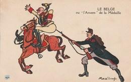 """LE BELGE Ou """"l'Anvers """"de La Médaille Illustrateur Mass'Beuf 956G - Mass'Boeuf"""