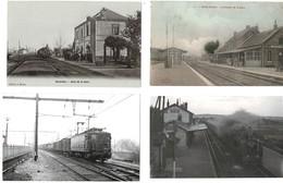 40 CP Diverses Dont Gares SAVERDUN+HENIN LIETARD+ PONT DE L'ARCHE+TRAIN ( Photo FENINO)+ Autres CP + Ou - Animées N° 51 - Postcards