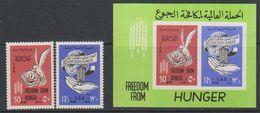 SAR Syria 1963 Freedom From Hunger 2v + M/s ** Mnh (39220B) - Syrië
