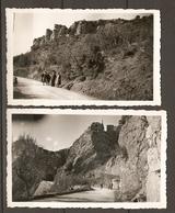 LOT DE 2 PHOTOS ORIGINALES 1948 ROUTE DE MONTFERRAT A CHATEAUDOUBLE - Lugares