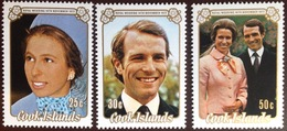 Cook Islands 1973 Royal Wedding MNH - Cook