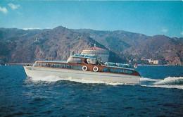 CARTE POSTALE ORIGINALE DE 9CM/14CM : THE MOTOR SHIP DESCANTO CASINO BALL-ROOM AND HOTEL STE CATHERINE  CALIFORNIA  USA - Sonstige