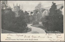Waterfall Gardens, New Viaduct And St George's Church, Truro, Cornwall, 1903 - Tims Postcard - Other