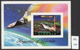 Liberia 1978 Concorde Space Shuttle IMPERF M/s. MNH - Concorde
