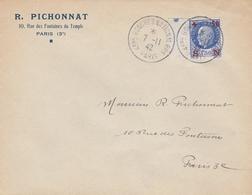 OBLI. 4ème CONGRES Nal PPF (PARTI POPULAIRE FRANCAIS) PARIS 11/42 - Marcophilie (Lettres)