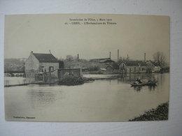 CPA De Creil. 60. Oise.Inondations De L'Oise 5 Mars 1910. L'embouchure Du Thérain. - Creil