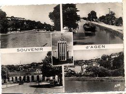 47  AGEN  -  MULTIVUES   -  CPM 1950/60 - Agen