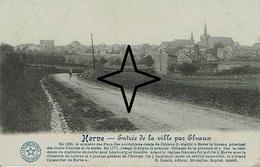 HERVE - Entrée De La Ville Par ELVAUX - Herve