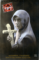 Lot De  90 CPA Thème Religion Chrétienne,  Drouilles Ou « Petites Cartes ». BON ETAT ** 0.08 Cts/la Carte - Postcards