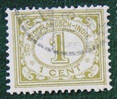 1 Ct Cijfer NVPH 100 1912-1930 Gestempeld / Used INDIE / DUTCH INDIES - Niederländisch-Indien