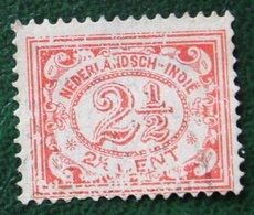 2 1/2 Ct Cijfer NVPH 104 1922 1912-1930 Gestempeld / Used INDIE / DUTCH INDIES - Netherlands Indies