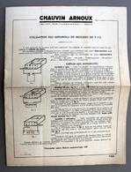 Notice 155 Utilisation Appareils De Mesures En T.S.F Chauvin Et Arnoux - Supplies And Equipment