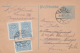 Autriche Entier Postal Pour La France 1923 - Postwaardestukken