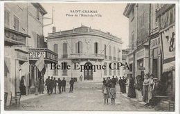 13 - SAINT-CHAMAS - Place De L'Hôtel-de-Ville ++++ Collection L. A. ++++ 1910 - Francia