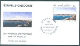 NOUVELLE CALEDONIE - 25.5.1993 - FDC - LES PEINTRES - Yv  296 - Lot 17220 - FDC