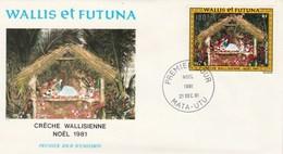 Wallis Et Futuna FDC  1981 Yvert  PA 113 - Noël Crèche - FDC