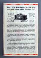 2 Documents Emploi Boite Alimentation Et Appareil  De Tension Anodique  De Chez F.A.R - Supplies And Equipment