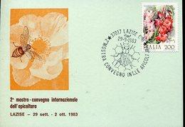 35161 Italia, Special Card And Postmark 1983 Lazise, International Bienenzucht,beekeeping,apiculture - Abeilles