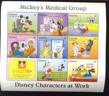 #  M-354-3* - COLLECT SRAMPS ;  MINT NEVER HINGED MINI SHEET OF DISNEY  MEDICAL GROUP  (  GUYANA   2919    1995 - Disney
