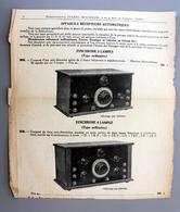 Extrait Catalogue E.Beausoleil Récepteur Automatique Synchrone à Lampes - Supplies And Equipment