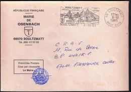 France Soultzmatt 1985 / Mairie De Osenbach / Coat Of Arms / Mineral Waters, Vineyard / Machine Stamp / EMA - 1961-....