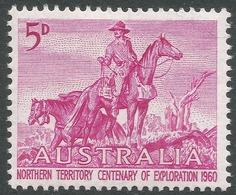 Australia. 1960 Centenary Of Northern Territory Exploration. 5d MNH. SG 335 - 1952-65 Elizabeth II : Pre-Decimals