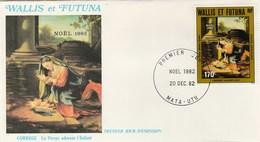 Wallis Et Futuna FDC  1982 Yvert  PA 121 - Noël - Le Corrège Art Peinture - FDC