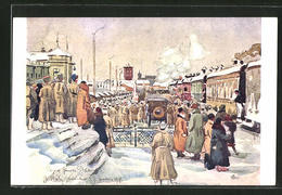 CPA Illustrateur Jekaterinburg, Arrival Of General Janin - Russie