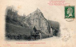 CPA LE LEGENDAIRE ROCHER DE SAINT NICOLAS PRES D'ESCOT - France