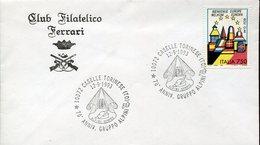 35170 Italia,  Postmark 1993 Caselle Torinese, 70th Anniversary  Alpini Group, Alpini Sempre - Militaria