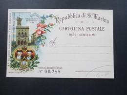 AK Repubblica Die San Marino Nummerierte Karte. Ricordo. Um 1900 - San Marino