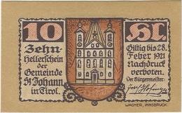 Austria 10 Heller 31-1-1921, St. Johann (Tirol) 898d UNC - Austria