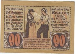 Austria 90 Heller 31-1-1921, St. Johann (Tirol) 898d UNC - Austria
