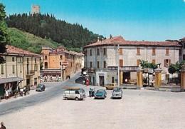 SOLFERINO (MN) - PIAZZA G. MARCONI E L'ANTICA ROCCA - F/G - V: 1985 - AUTO - Autres Villes