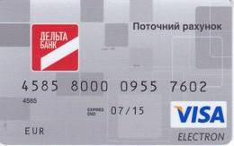 TARJETA DE BANCO DE UCRANIA DELTA (CREDITCARD-BANK-VISA) - Tarjetas Telefónicas