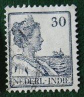 30 Ct Koningin Wilhelmina NVPH 125 1914 1913-1932 Gestempeld / Used INDIE / DUTCH INDIES - Niederländisch-Indien