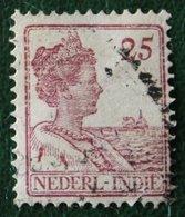 Read 25 Ct Koningin Wilhelmina NVPH 124 1913-1932 Gestempeld / Used INDIE / DUTCH INDIES - Netherlands Indies