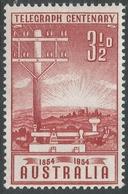 Australia. 1954 Australia Telegraph System Centenary. 3½d MNH. SG 275 - 1952-65 Elizabeth II: Dezimalausgaben (Vorläufer)