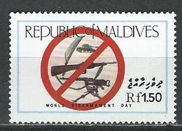 Maldives Isl. Scott # 1149 MNH. World Disarmament Day 1986 - Maldives (1965-...)