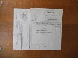ORAN ALGERIE GAY FRERES VINS FACTURE ET TRAITE DU 21 JUILLET 1950 - Other