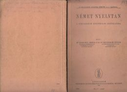 6506FM- GERMAN LANGUAGE GRAMMAR, 120 PAGES, SCHOOL BOOK, HUNGARIAN, 1941, HUNGARY - Books, Magazines, Comics