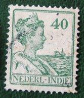 Read 40 Ct Koningin Wilhelmina NVPH 127 1922 1913-1932 Gestempeld / Used INDIE / DUTCH INDIES - Netherlands Indies