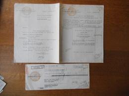 ORAN ALGERIE A.KRUGER-NISSOLLE & Cie RUE DEGAS FACTURE COURRIER ET TRAITE DU 3 OCTOBRE 1949 - Factures & Documents Commerciaux