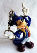 Figurine PC MICKEY MAGICIEN Walt Disney PARC EURODISNEY WDP PORTE CLES - Disney