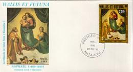 Wallis Et Futuna FDC  1983 Yvert PA 131 - Noël - Raphaël Art Peinture - FDC