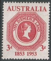 Australia. 1953 Tasmanian Postage Stamp Centenary. 3½d MNH. SG 271 - 1952-65 Elizabeth II : Pre-Decimals