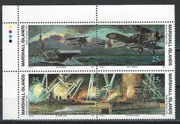 Marshall Isl. Scott # 267-70 MNH. WWII Battle. 1990 - Marshall Islands