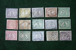 Cijfer 4ct Missing NVPH 99-114 (109 Missing) 1912-1930 Gestempeld / Used INDIE / DUTCH INDIES - Netherlands Indies