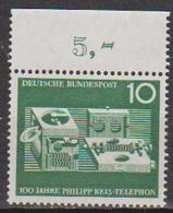 BRD 1961 MiNr. 373 ** Postfr. 100 Jahre Telefon Von Philipp Reis ( 6909 )günstige Versandkosten - BRD